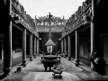 Old Temple Saigon South Vietnam B&W