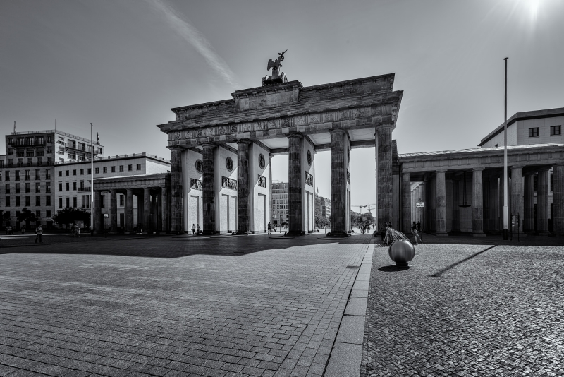 Brandenburg Gate Berlin B&W