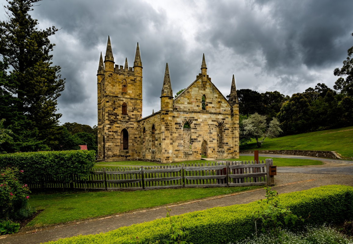 Port Arthur's Old Church Ruins