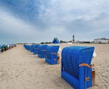 Beach Chairs Warnemunde Germany