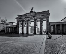 Brandenburg Gate Berlin B&W