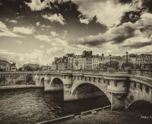 Bridges of Paris BW Vintage