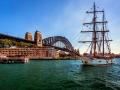 Old Sailing Ship Soren Larson in Sydney Harbour