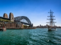 Sydney Harbour and Old Sailing Ship