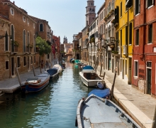 Boat Parking Venice Italy