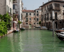 Old Canal in Venice Colour