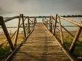 Bamboo River Bridge Hoi An Vietnam