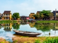 Canal and Old-Bridge Hoi An Vietnam