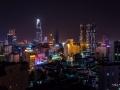 Rising Moon over Ho Chi Minh City South Vietnam