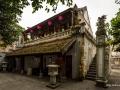 Old Temple Building in Hanoi North Vietnam Colour