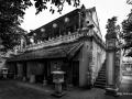 Old Temple in Hanoi North Vietnam Black & White