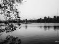 Turtle Temple Hoan Kiem Lake Hanoi Vietnam B&W