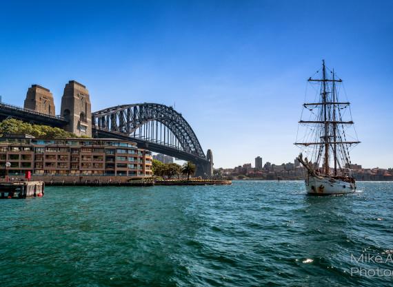 Old Sailing Ship Soren Larsen in Sydney Harbour