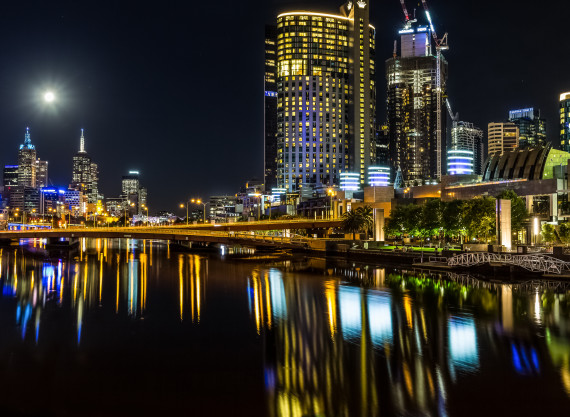 Melbourne by Night – Limited Edition Panorama Print
