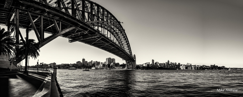 The bridge in black white