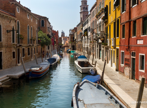Venice Canal and Boats Italy