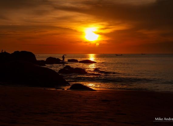 Sunset Karon Beach Thailand