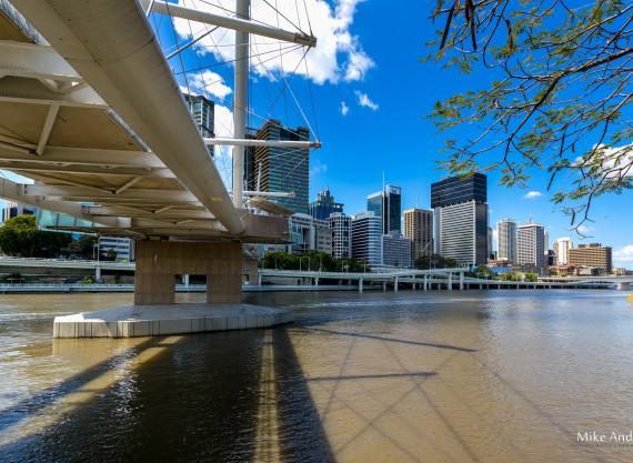 Kurilpa Bridge and City Skyline Brisbane
