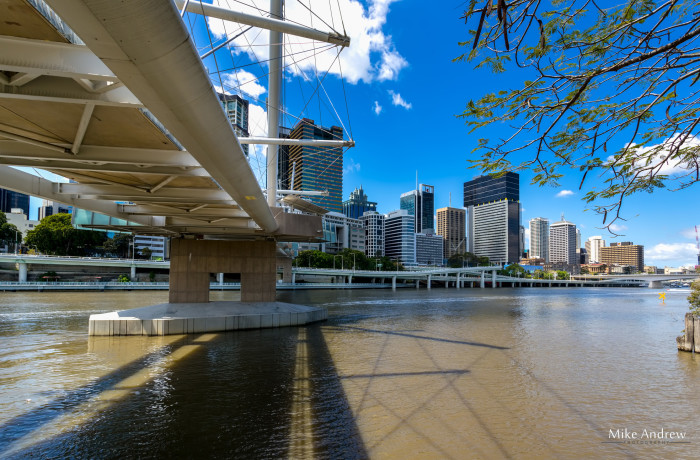 Kurilpa Bridge and City Skyline Brisbane