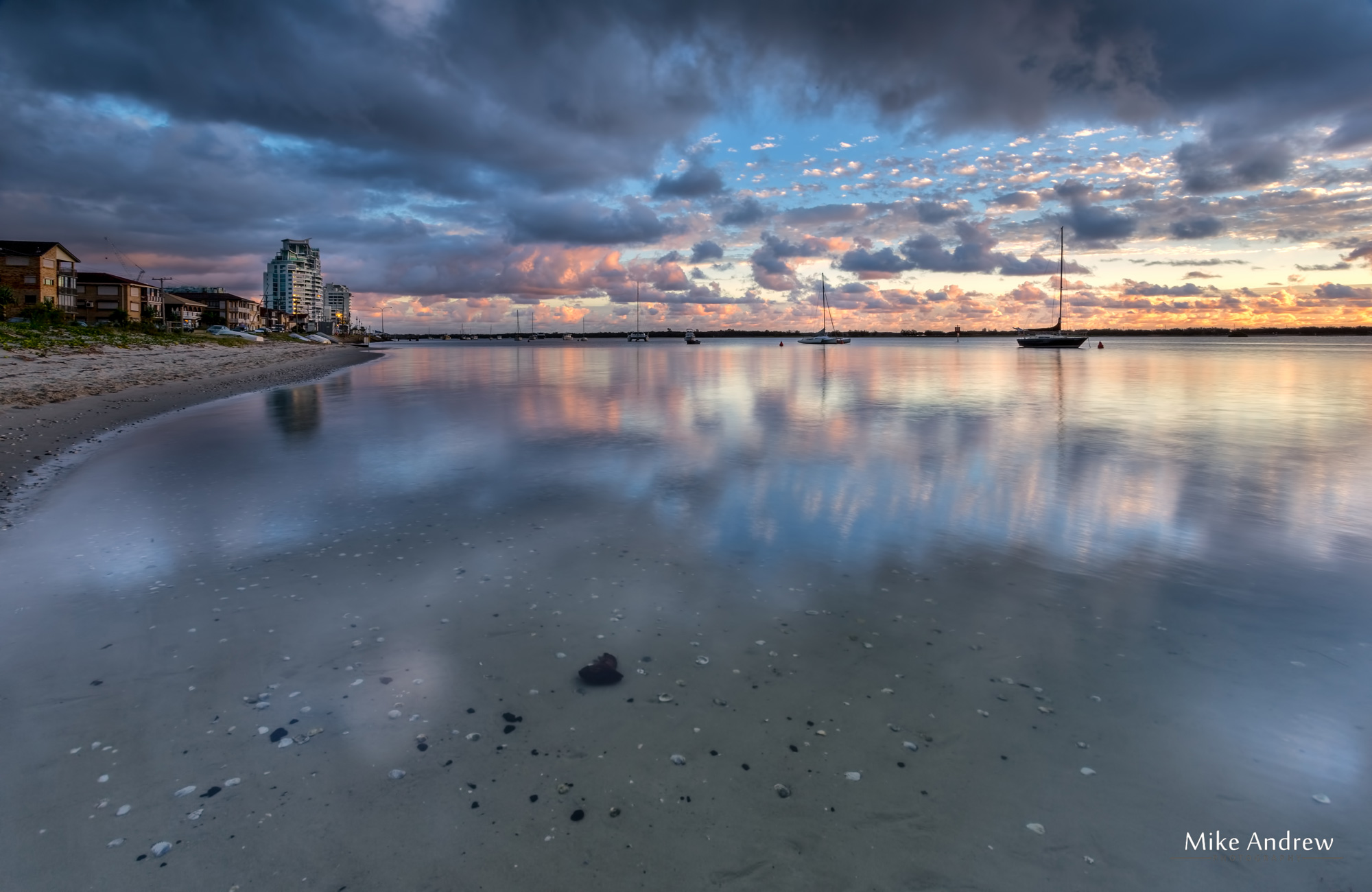 Reflections at Sunrise Gold Coast - Mike Andrew Photography