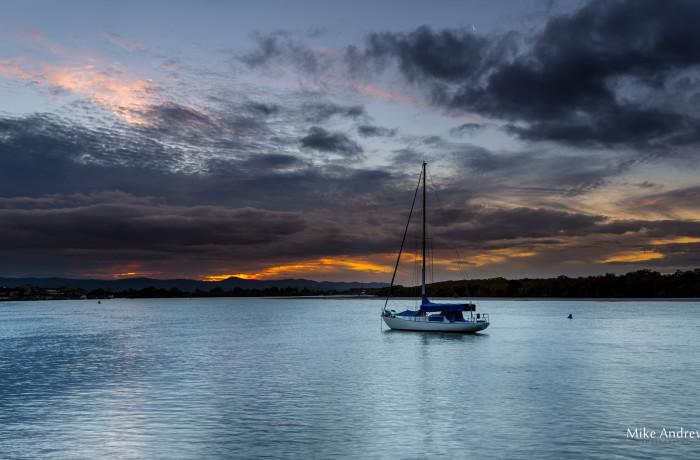 Yacht at Anchor – Paradise Point Gold Coast