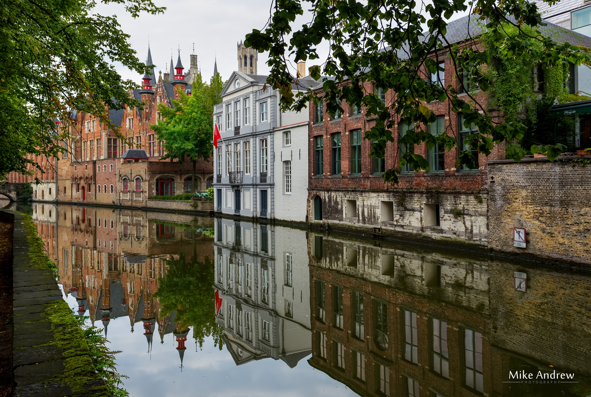 Reflections of Bruges Belgium