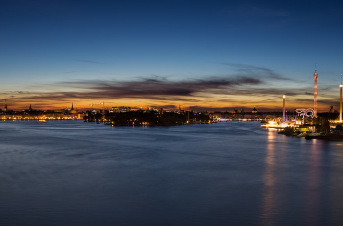 Stockholm Sweden by Night Panorama