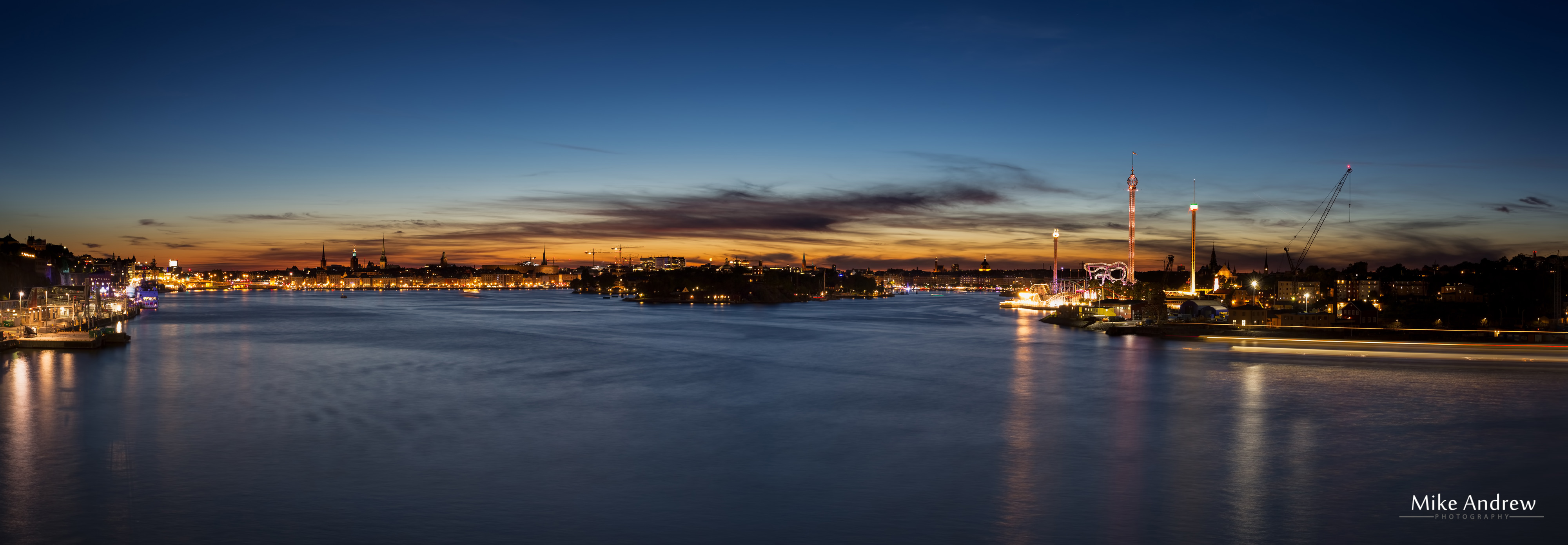 Stockholm Sweden by Night - Mike Andrew Photography