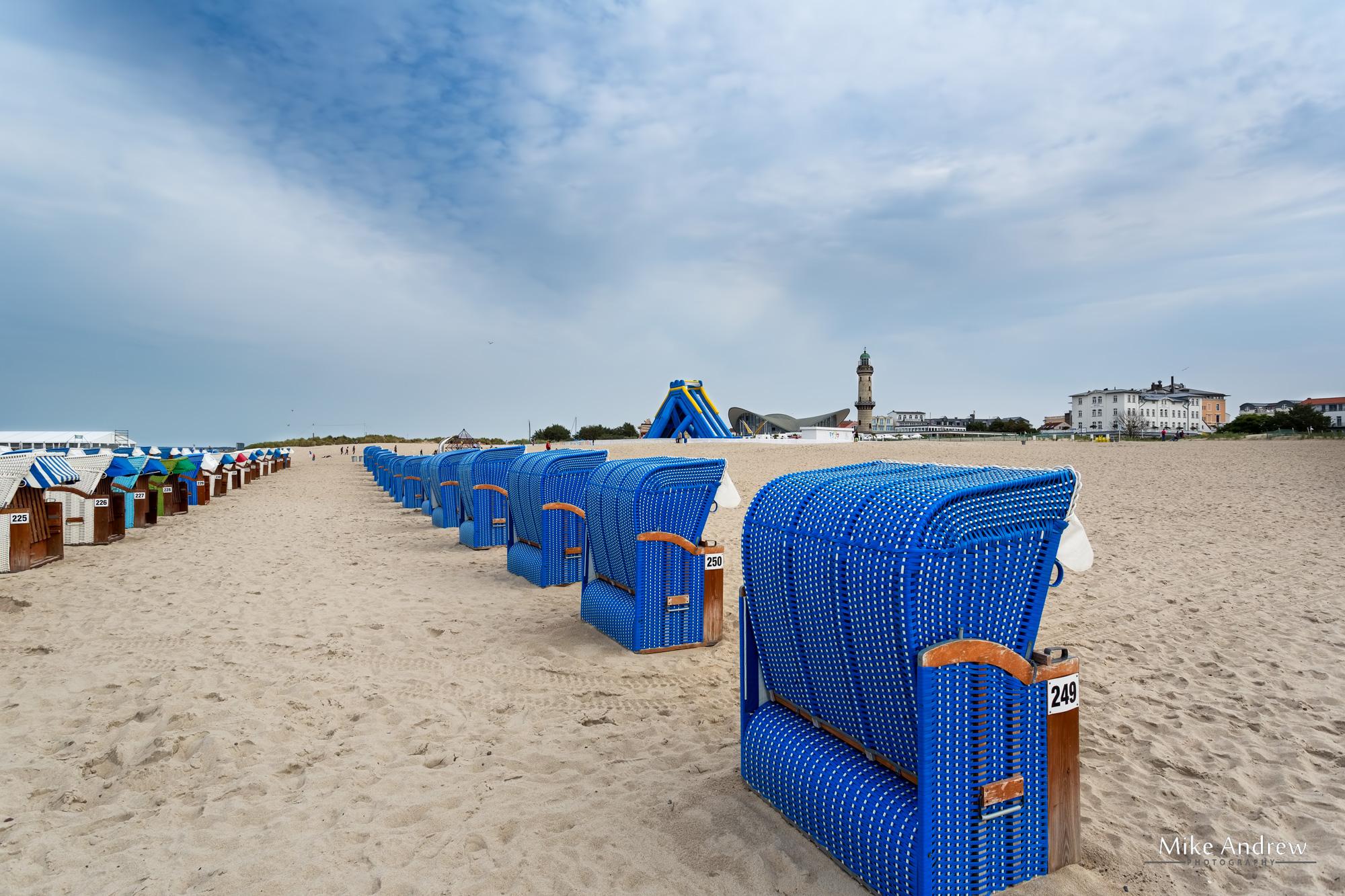 beach chairs Wanemunde Germany