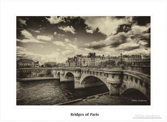 Bridges of Paris – Vintage Black and White Print