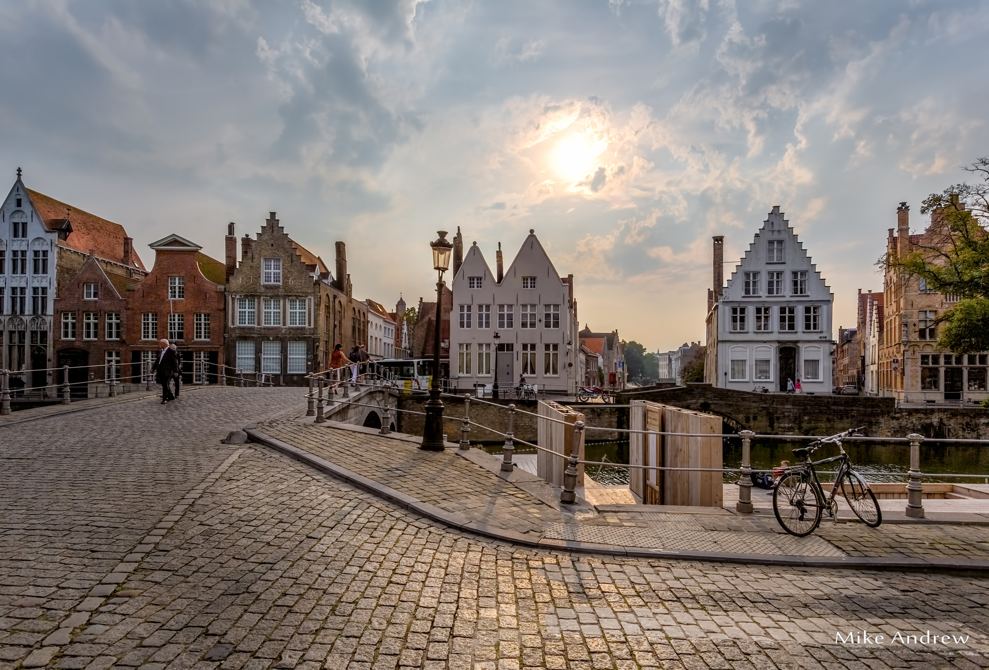 People-on-a-Bridge-Bruges-Belgium