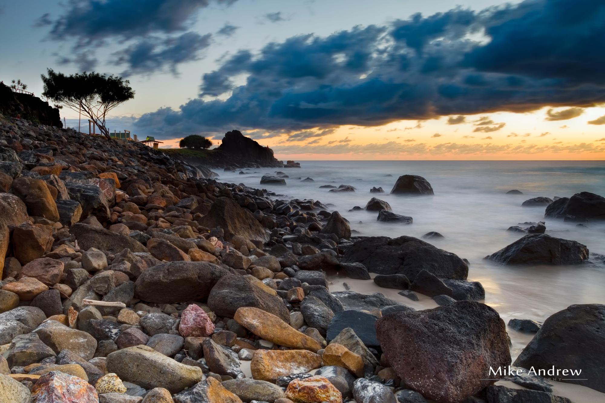 Snapper Rocks Gold Coast at Dawn